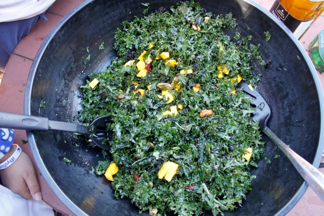 Finished Massage Kale and Mango Salad