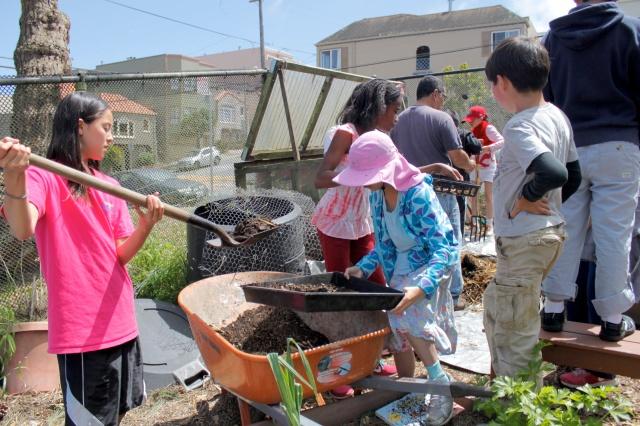 Sifting Compost