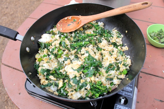 Brassica Fried Rice from the AFY Garden