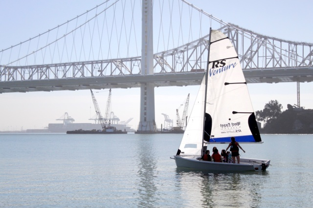 Sailing Near the New Bay Bridge