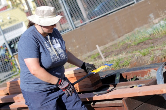 Kat Sawyer Demoing the Hand Saw (Photo By Patricia Fung)