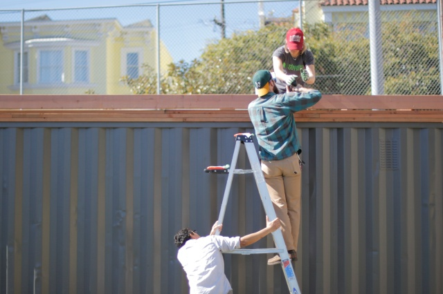 Working on the Frame 4 (Photo By Patricia Fung)