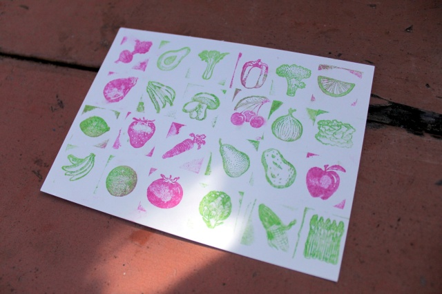 Vegetable Stamping Photo by Patty Fung